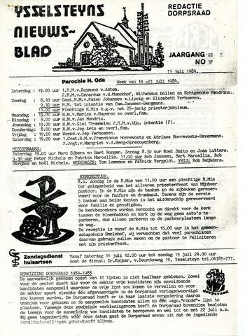 Ysselsteyns Nieuwsblad 1984-07-13