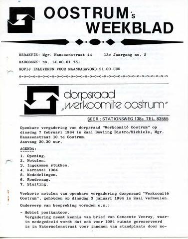 Oostrum's Weekblad 1984-02-02