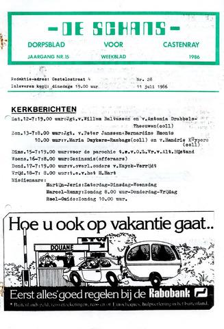 Castenrays dorpsblad De Schans 1986-07-11