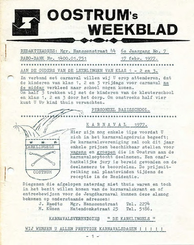 Oostrum's Weekblad 1977-02-17