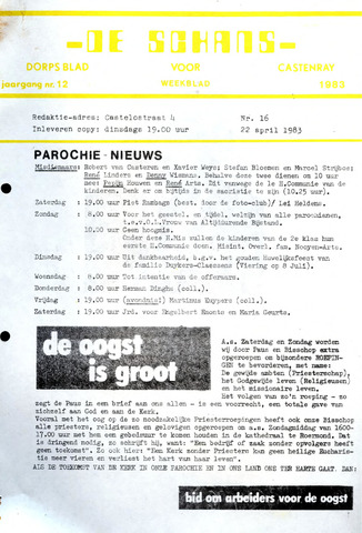 Castenrays dorpsblad De Schans 1983-04-22