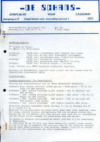 Castenrays dorpsblad De Schans 1973-06-08