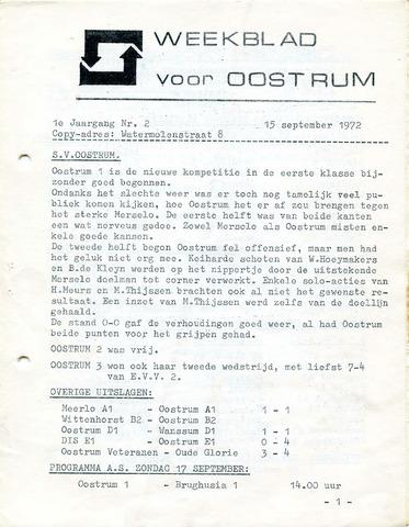 Oostrum's Weekblad 1972-09-15