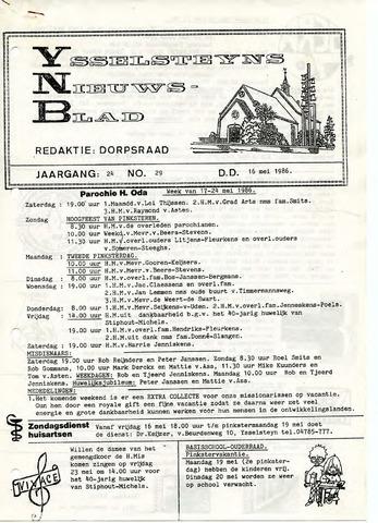 Ysselsteyns Nieuwsblad 1986-05-16
