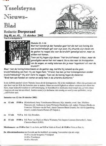 Ysselsteyns Nieuwsblad 2002-10-11