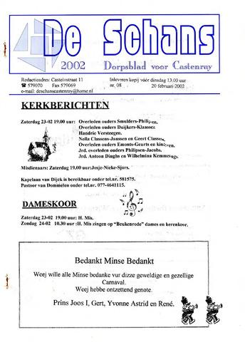 Castenrays dorpsblad De Schans 2002-02-20