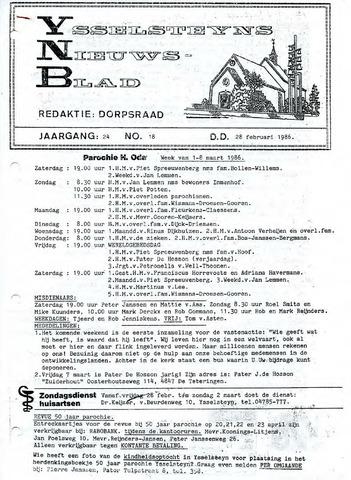 Ysselsteyns Nieuwsblad 1986-02-28