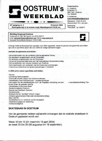 Oostrum's Weekblad 2004-01-22