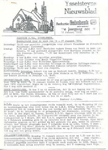 Ysselsteyns Nieuwsblad 1979-01-12