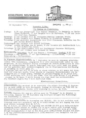Ysselsteyns Nieuwsblad 1971-09-24