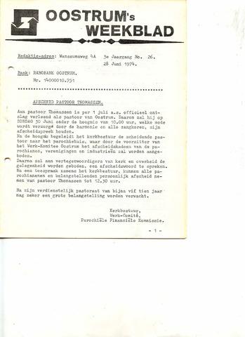 Oostrum's Weekblad 1974-06-28