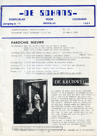 Castenrays dorpsblad De Schans 1984-03-16