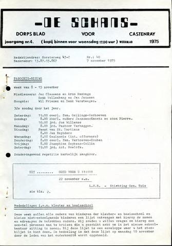 Castenrays dorpsblad De Schans 1975-11-07