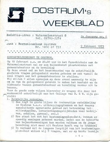 Oostrum's Weekblad 1973-02-09