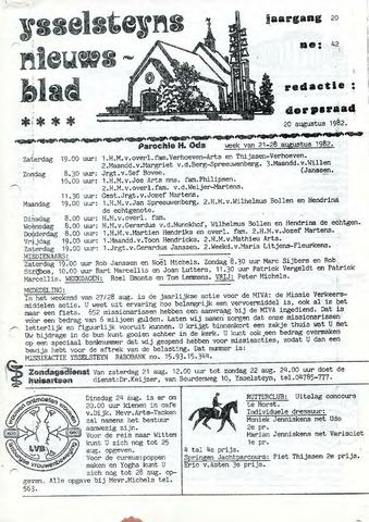 Ysselsteyns Nieuwsblad 1982-08-20