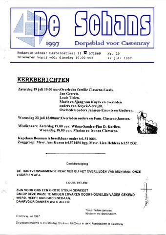 Castenrays dorpsblad De Schans 1997-07-17