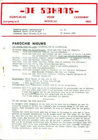 Castenrays dorpsblad De Schans 1980-10-31