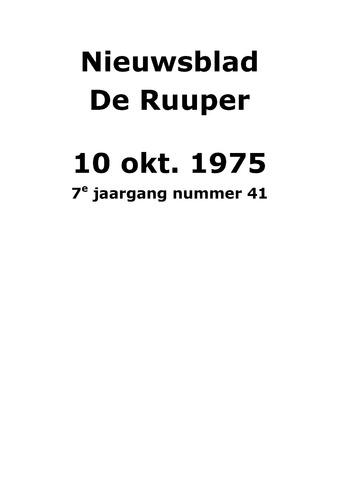 Dorpsblad Leunen-Veulen-Heide 1975-10-10