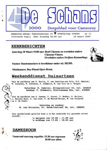 Castenrays dorpsblad De Schans 2000-03-16