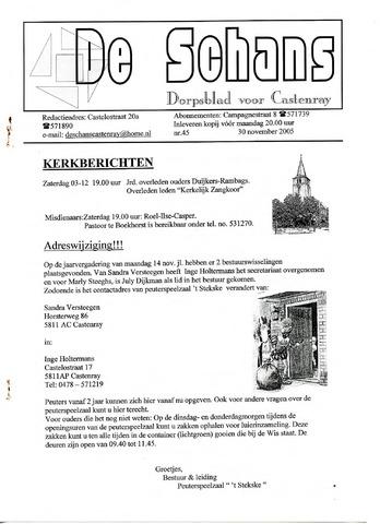 Castenrays dorpsblad De Schans 2005-11-30