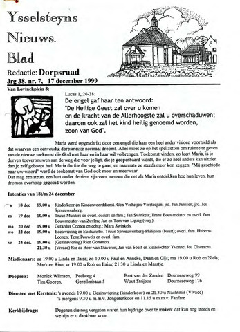 Ysselsteyns Nieuwsblad 1999-12-17