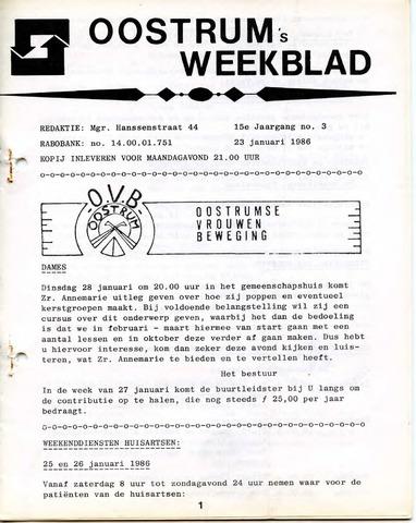 Oostrum's Weekblad 1986-01-23