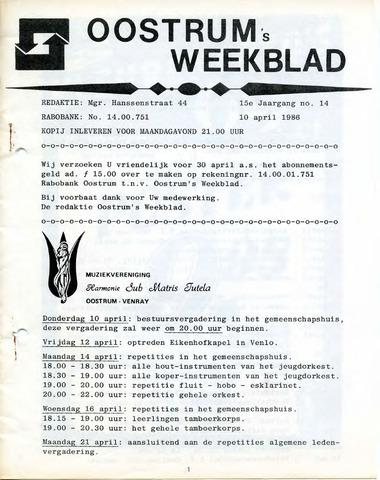 Oostrum's Weekblad 1986-04-10