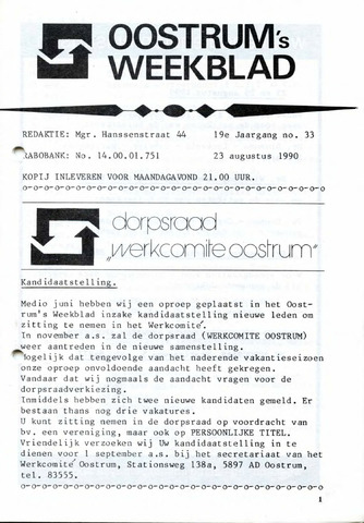 Oostrum's Weekblad 1990-08-22
