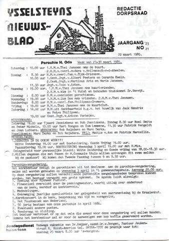 Ysselsteyns Nieuwsblad 1985-03-22