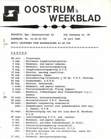 Oostrum's Weekblad 1984-07-19