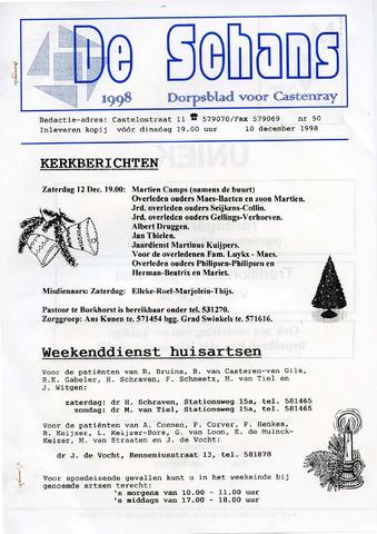 Castenrays dorpsblad De Schans 1998-12-10