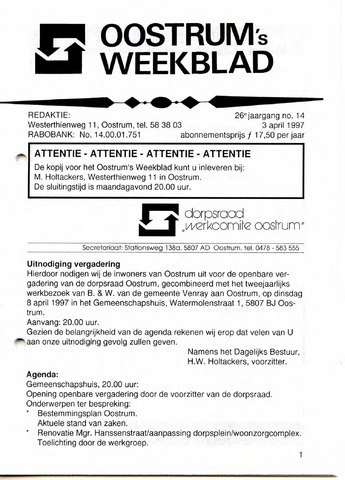 Oostrum's Weekblad 1997-04-03