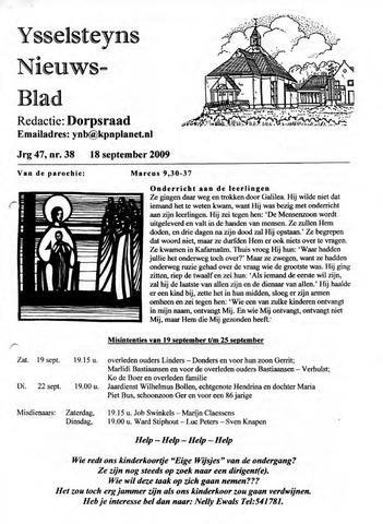 Ysselsteyns Nieuwsblad 2009-09-18