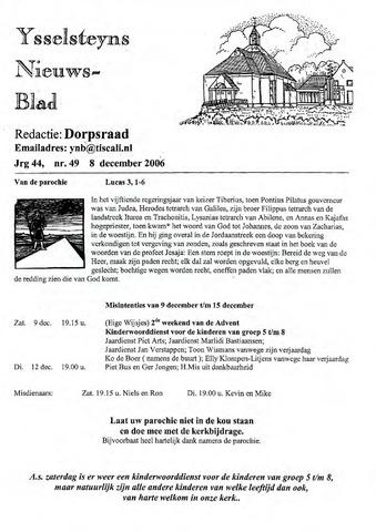 Ysselsteyns Nieuwsblad 2006-12-08