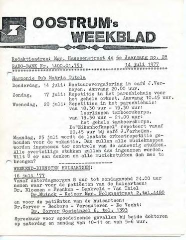 Oostrum's Weekblad 1977-07-14