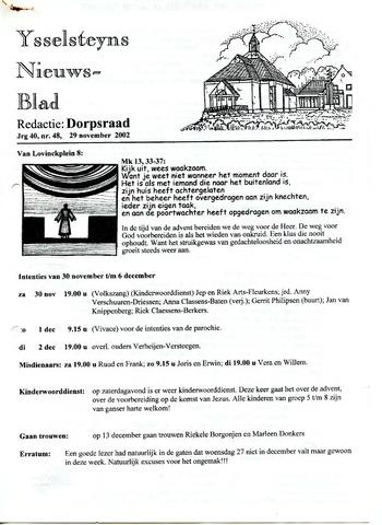 Ysselsteyns Nieuwsblad 2002-11-29