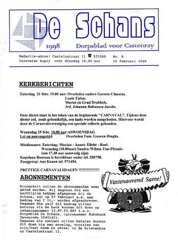 Castenrays dorpsblad De Schans 1998-02-19