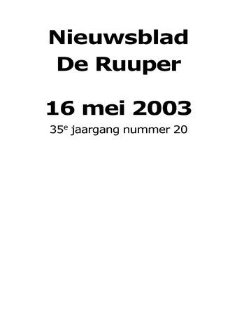 Dorpsblad Leunen-Veulen-Heide 2003-05-16