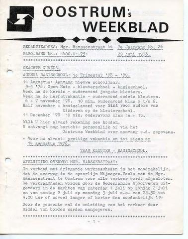 Oostrum's Weekblad 1978-06-29