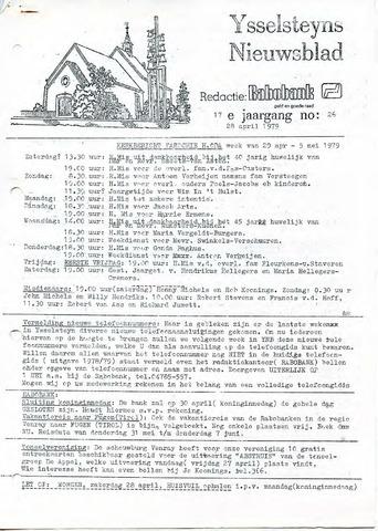 Ysselsteyns Nieuwsblad 1979-04-28