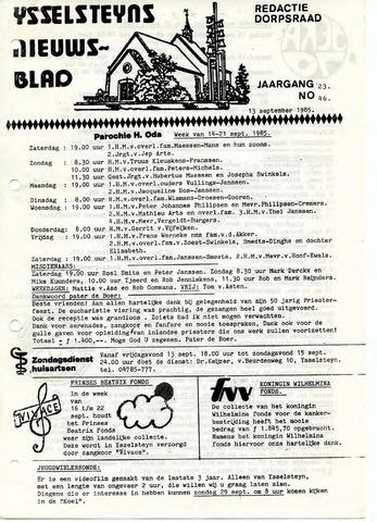 Ysselsteyns Nieuwsblad 1985-09-13