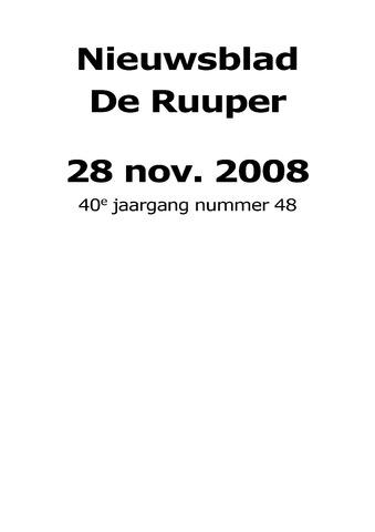Dorpsblad Leunen-Veulen-Heide 2008-11-28