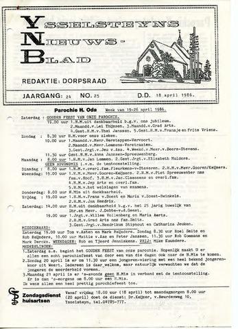 Ysselsteyns Nieuwsblad 1986-04-18