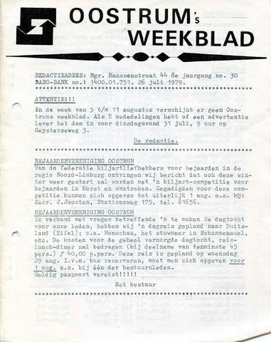Oostrum's Weekblad 1979-07-26