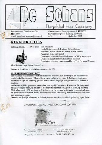 Castenrays dorpsblad De Schans 2007-10-10