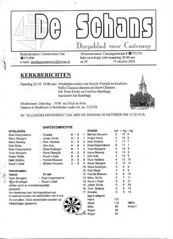 Castenrays dorpsblad De Schans 2005-10-19