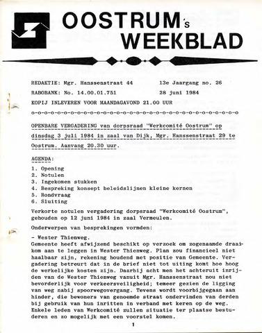 Oostrum's Weekblad 1984-06-28