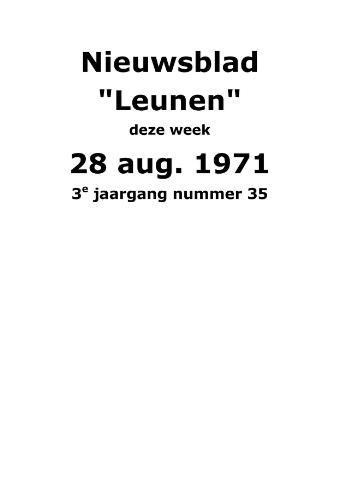 Dorpsblad Leunen-Veulen-Heide 1971-08-28