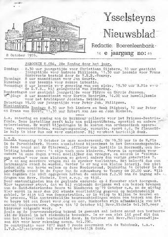 Ysselsteyns Nieuwsblad 1976-10-08