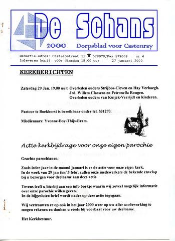 Castenrays dorpsblad De Schans 2000-01-27